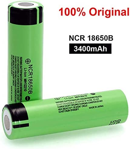 4pcs Flat top 18650 Battery Lithium 3.7V 3400mah High Capacity Cylindrical 18650 Batteries for LED Flashlight Torch Camera Electronic Tool Power Bank