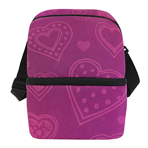 Ultimate Bag Carrying Wine - Lunch Bag Love Heart Cute Insulated Cooler Bag Womens Leakproof Thermos Box Zipper Tote Bags for Wine