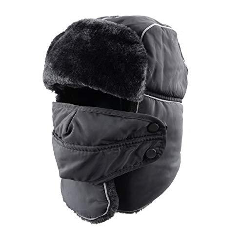 abbf7231958c5 TRIWONDER Winter Trooper Trapper Hat Ushanka Russian Ear Flap Aviator Hat  with Mask
