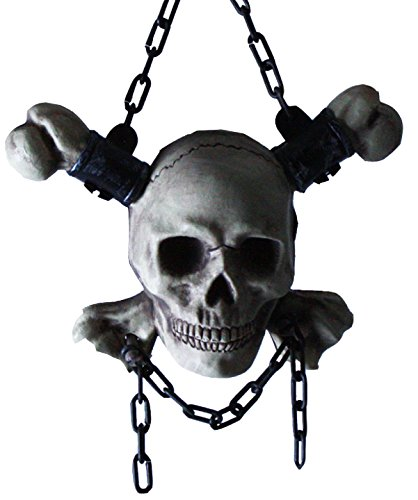 Uniton -- Pirate Skull and Cross Bones Hanging Decoration (Costume Accessory) (Captain Caveman Costume)