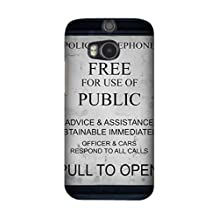 HTC One M8 Case, Hard Protective Cases TV Show Doctor Who for HTC One M8 Customized Cover