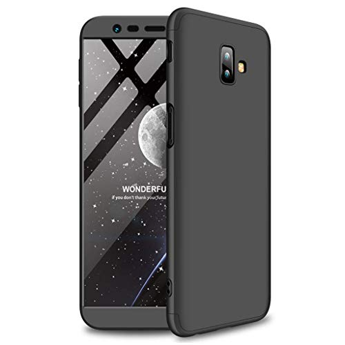 Hardcase for Samsung Galaxy J6 Plus/J6+ Case, Hybrid 3 in 1 Shockproof Hard PC Cover Full Protection Mobile Phone Case (Black, Galaxy J6 Plus/J6+)