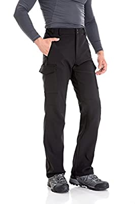Trailside Supply Co. Men's Water-Repellent Softshell Fleece-Lined Cargo Pant