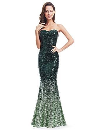 Ever Pretty Strapless Sweetheart Neckline Sparkling Gradual Sequin Mermaid Evening Dress Prom Dress 07001