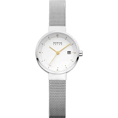 BERING Time 14426-001 Women's Solar Collection Watch with Mesh Band and scratch resistant sapphire crystal. Designed in Denmark.