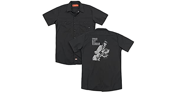 Stevie Ray Vaughan LIVE ALIVE Licensed Adult Dickies Work Shirt All Sizes
