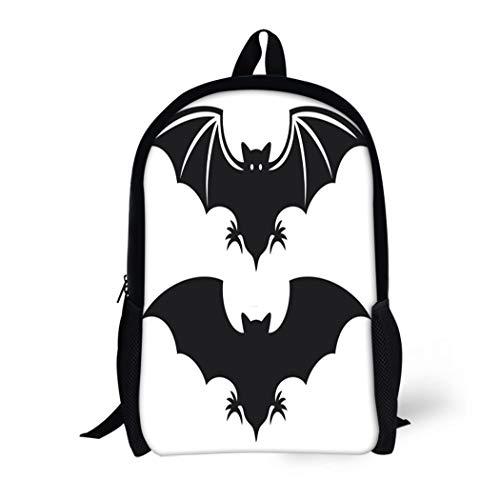 (Pinbeam Backpack Travel Daypack Halloween Flight of Bat Silhouette Vampire Wing Cartoon Waterproof School)