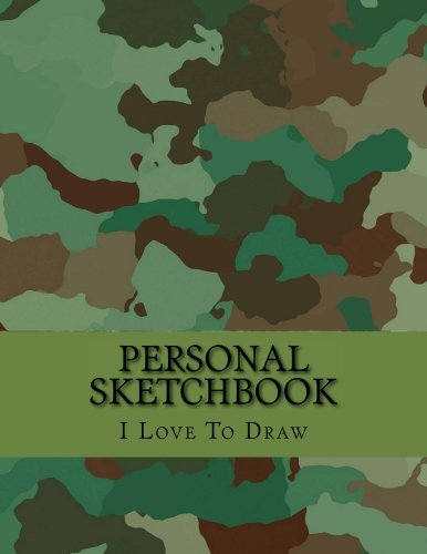 Personal Sketchbook: Large Drawing Book with 150 White Blank Pages: Sketch Notebook/Journal with an Inspirational  Camouflage Art Cover Design (8.5 X 11) -
