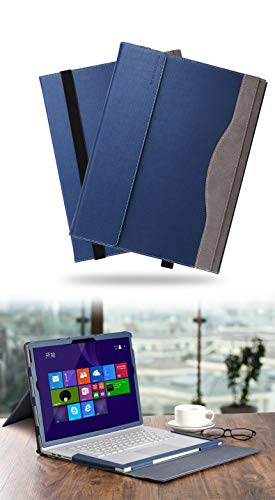 Microsoft Surface Book 3/2 15 inch Laptop Sleeve Tablet Folio Case Detachable Cover with Support Stand (Bracket) Case for Surface Book 3/2/1 (Blue)