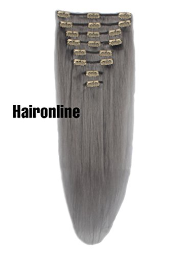 Haironline Human Hair Extensions Clip On Hair Extensions Clip in 16