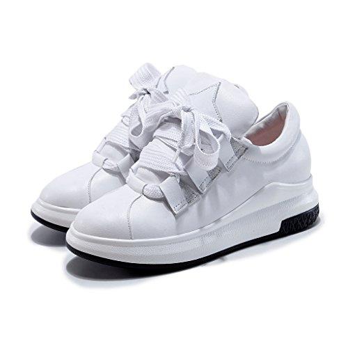 RoseG Trainers Casual White Leather Platform Womens Shoe Sneakers Fashion qvBOTq1
