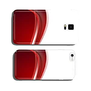 Abstract vector background in red color with wave cell phone cover case iPhone6 Plus
