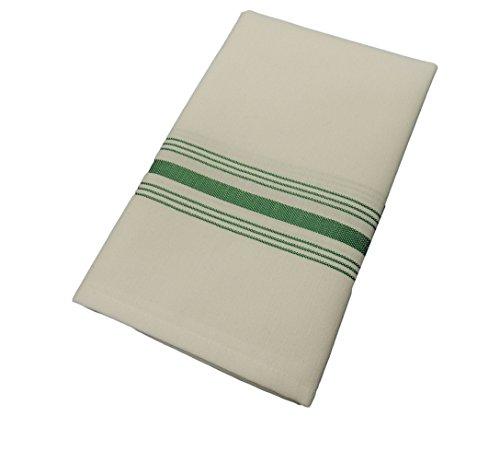 [Kelly Green Milliken Signature Stripe Bistro Napkins - Set of 12] (Milliken Linens Supply)