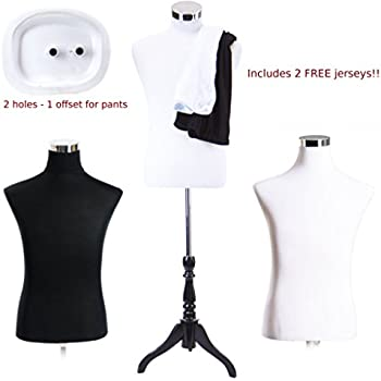 Amazon.com  Male Dress Form Torso with BLACK Wood Stand and Jerseys ... 77006bbcc