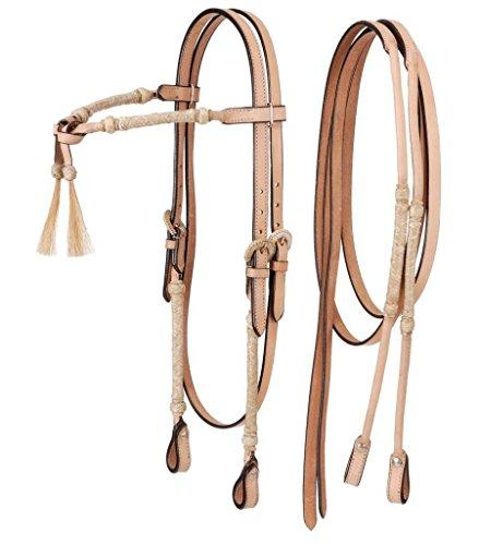 Royal King Braided Rawhide Tassel Knot Headstall