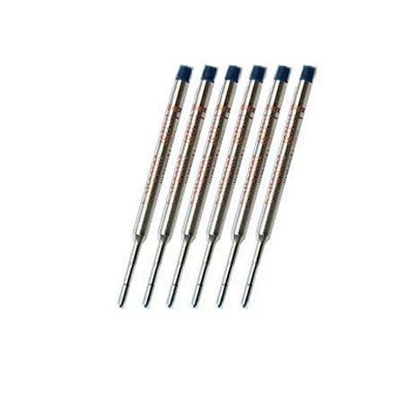 Sheaffer Ballpoint Pen Refill, Black Ink, Medium Point, 6/Refills