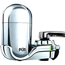 PUR Advanced Faucet Water Filter, Chrome, Vertical, LED Indicator FM-3700B (Renewed)