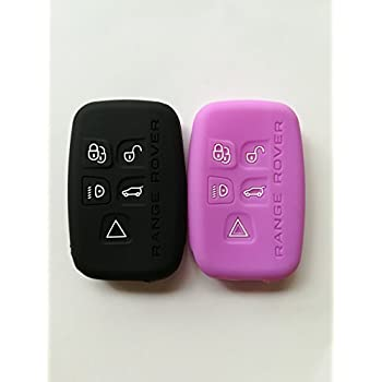2Pcs New Pink Black Protector Silicone Remote Smart Key Fob Cover Holder Skin Jacket Case for Land Rover Discovery LR3 Range Rover Sport