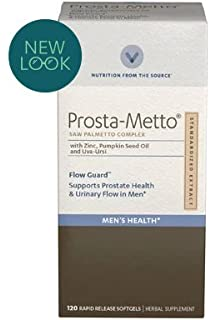 Vitamin World Prosta-Metto Saw Palmetto Complex With Zinc, Pumpkin Seed Oil and Uva