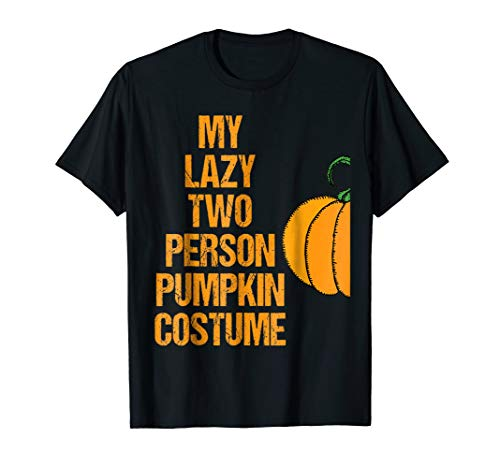 Pumpkin 1 Matching Couple Costume Funny Easy Halloween Shirt -