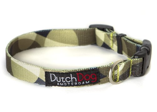 Dutch Dog Amsterdam Fashion Dog Collar, 10 to 15-Inch, Over the Moon