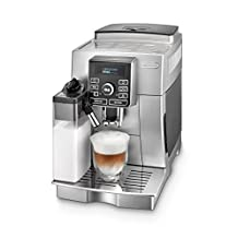 DeLonghi ECAM25462S Magnifica S Fully Automatic Espresso and Cappuccino Machine with One Touch LatteCrema System and Milk Drinks Menu, Silver
