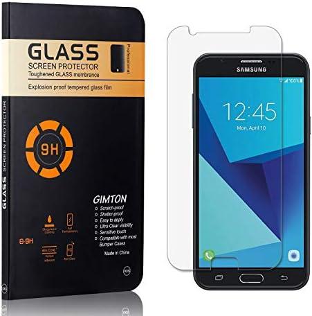 GIMTON Displayschutzfolie für Galaxy J7 Prime/Galaxy On 7, 9H Härte, Blasenfrei, Anti Öl, Ultra Dünn Kratzfest Schutzfolie aus Gehärtetem Glas für Samsung Galaxy J7 Prime/Galaxy On 7, 4 Stück