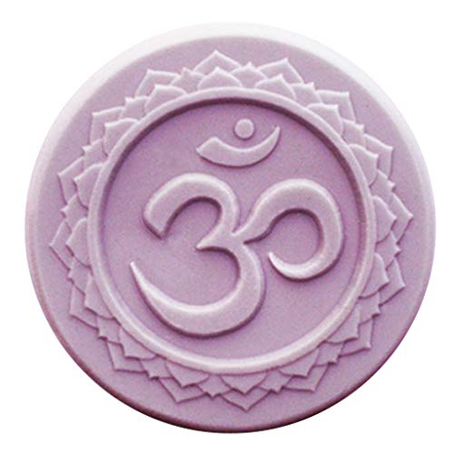 Milky Way OM Yoga Soap Mold Tray - Melt and Pour - Cold Process - Clear PVC - Not Silicone - MW 253