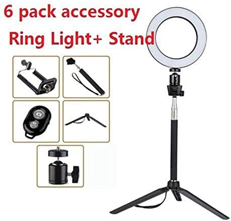 OUYAWEI Hot 14.5//16//20cm Dimmable LED Ring Light Selfie Light Lamp Photo Camera Live Fill-in Light 20CM