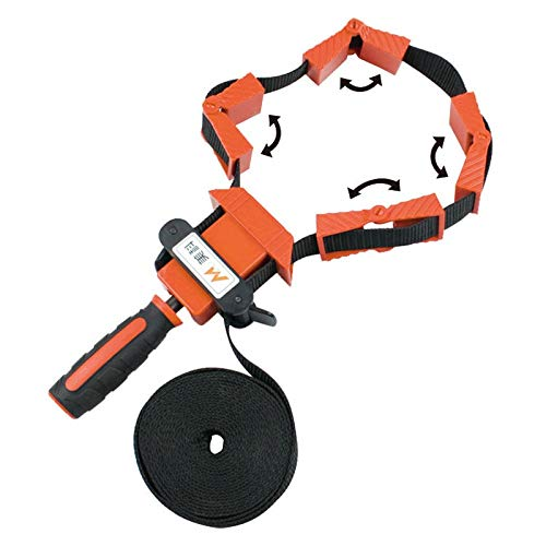 Ochoos Multifunction Woodworking fixture 4m Nylon Strap Clip Tool Polygonal 90 Degrees Corner Photo Frame Clips Quick Adjustable Clamp ()