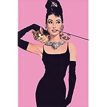 Pyramid America Audrey Hepburn-Pink, Movie Poster Print, 24 by 36-Inch