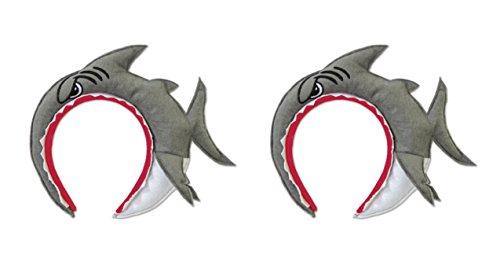 Beistle 60958 2 Piece Shark Headbands, ()