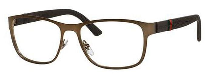 119c376f677 Amazon.com  Gucci GG2251 Eyeglasses-0R42 Brushed Brown -55mm  Clothing