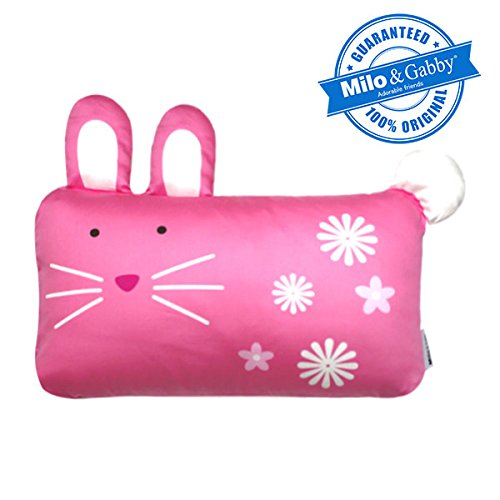 MILO & GABBY Original Animal 3D Toddler Pillowcase for Babies and Kids, 100% Cotton Lola The Bunny from MILO & GABBY