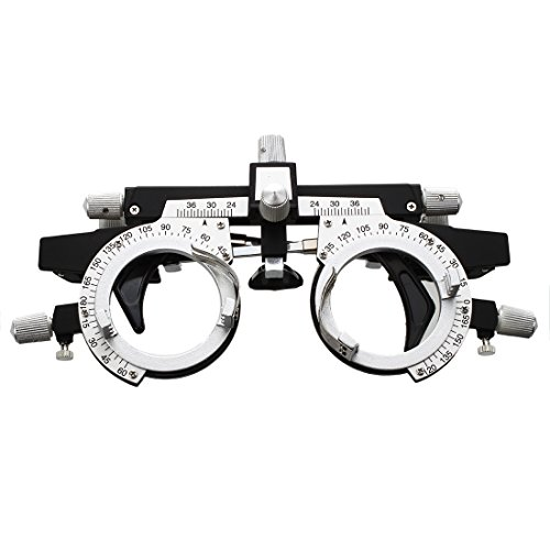 TOOGOO (R) Optical Optic Trial Lens Frame Eye Optometry Optician / Easily Changeable Cylinder Axis, Fully Adjustable Temple Length and Nose - Glasses Nose Rest