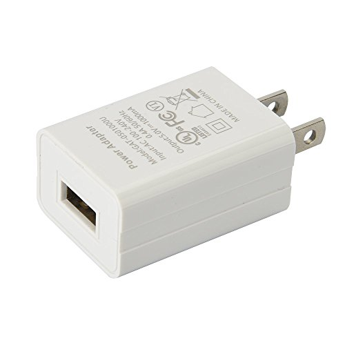 US Plug USB Power Charger, 5V 1A Power Adapter, 5W OEM Charger for Amazon Kindle 3 4 5, Paperwhite 2 3, Power Adapter for Amazon Kindle Paperwhite (White, No Cable) (Paperwhite 1)