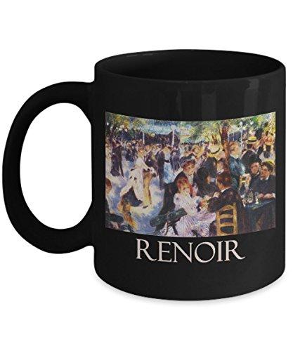 Dance at Le Moulin de la Galette (1876) by Pierre-Auguste Renoir: Ceramic Coffee Mug (Auguste Renoir Moulin De La Galette 1876)