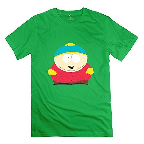 Eric Cartman Logo 100% Cotton ForestGreen Tshirt For Mens Size M
