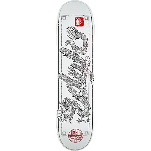 信号アテンダントスリップDGKスケートボードドラゴンホワイトスケートボードデッキ – 8.06