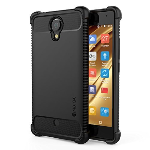 BLU R1 HD Case, Cindick Shock Absorption Anti Slip Dust Resistant TPU Cover Protector For BLU R1 HD - Black