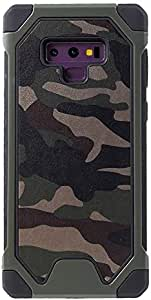Samsung Galaxy Note9 Mobile Cover Camouflage Leather Coated PC TPU Protective Case - Green