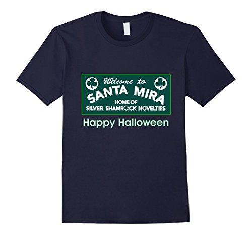 Mens Welcome to Santa Mira t-shirt 3XL (Happy Halloween Silver Shamrock)