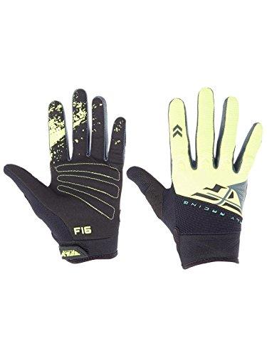 (Fly Racing 2018 F-16 Gloves (LARGE) (BLACK/HI-VIZ))