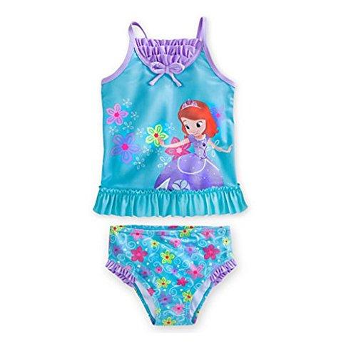 Disney Sofia Tankini Swimsuit for Girls - 2-piece (7/8)