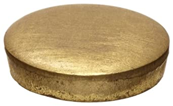 "260 Brass Disc, ASTM-B16, 3/4"" Diameter, 1/8"" Thick"