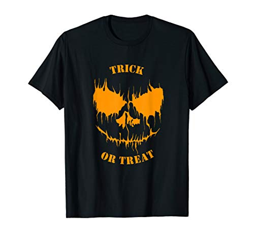 Trick or treat : this horror pumpkin shirt