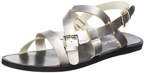 Tantra Sandales Métallisé silver Femme Striped Sandals wEArq7wF