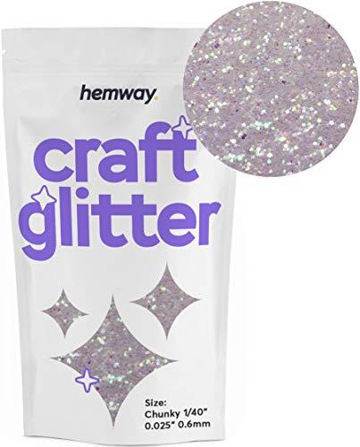 "Hemway Craft Glitter 100g 3.5oz Chunky 1/40"" 0.025"" 0.6MM (Mother of Pearl)"