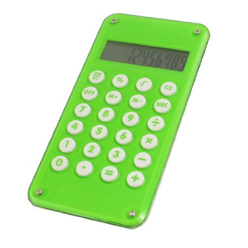 EbuyChX Ball Maze Game Design 10 Digit Electronic Calculator, Berde