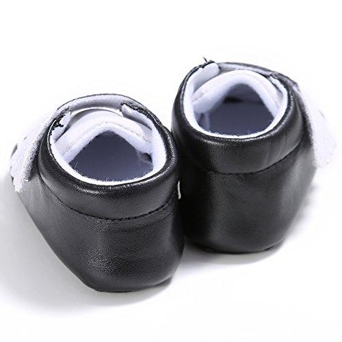 Etrack-Online Baby Sneakers - Zapatos primeros pasos de Piel Sintética para niño negro